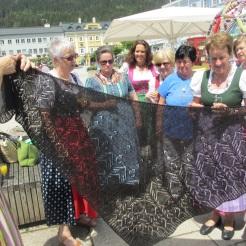 Schultertuch aus Königshof Alpaka gestrickt von Renate
