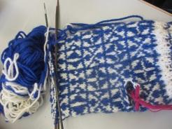 kompliziertes Muster für die Handschuh-Innenseite