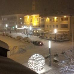 im dichten Schneetreiben