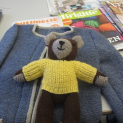 Bärenkind aus Alpaka-Wolle