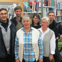 Claudia mit Team und Waltraud & Anna