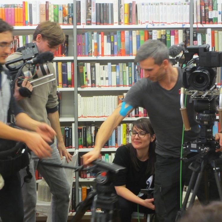 Claudia Grünwald mit ORF Team