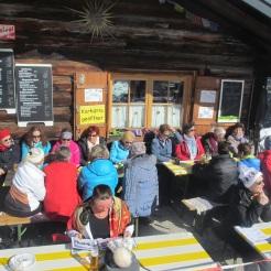 Hochbetrieb auf der Karalmhütte