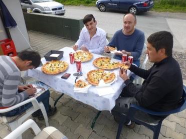 die Pizza-Pause ist wohl verdient