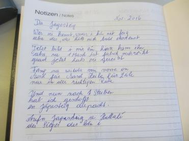 Gedichtetes von Anna zum Jägersteig