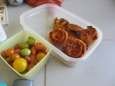 Pizzaschnecken und Tomaten von Anna