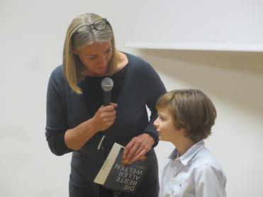 der 9 jährige Jeremy Miliker im Filmgespräch