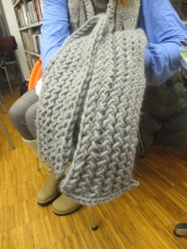 Schal aus RIesenmaschen von Angelika