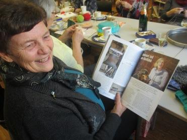Greti hat das Magazin mit Claras Interview mit