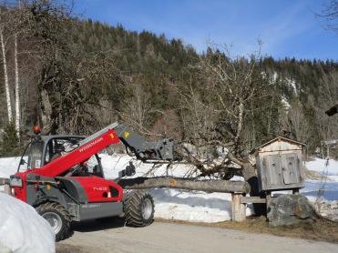 auch in der Ramsau arge Schäden durch den Schnee