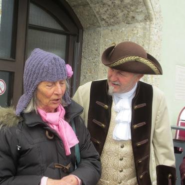 Anna Burger im Gespräch mit dem Landgraf