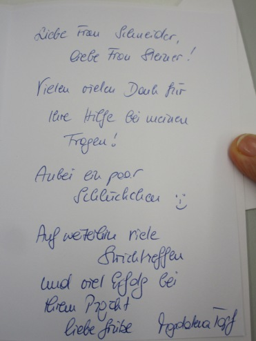netter Brief von Frau Topf