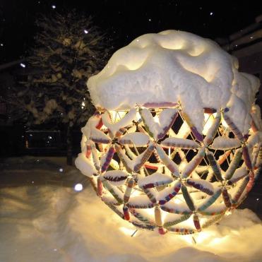 schönster Schneestern am Stadtplatz