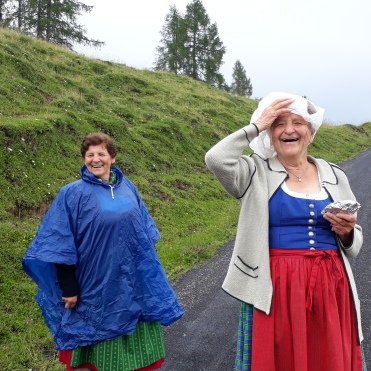 die wetterfesten: Greti Wieser und Hilde Grünwald